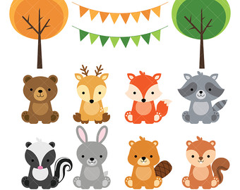 Rabbit clipart forest animal #7