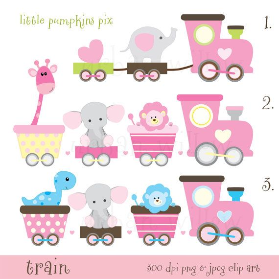 Pastel clipart baby shower Ideas Clipart Cute Train on