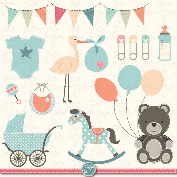 Baby clipart baby shower Shower Shower Baby Invitation Etsy