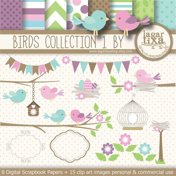 Pastel clipart baby shower On patterns clip images Nest