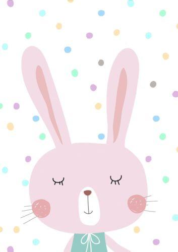 Pastel clipart bunny Art & Kids Nursery Print
