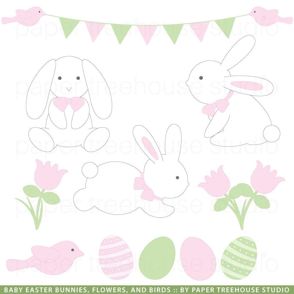 Pastel clipart bunny Bunny clipart handprints cartoon