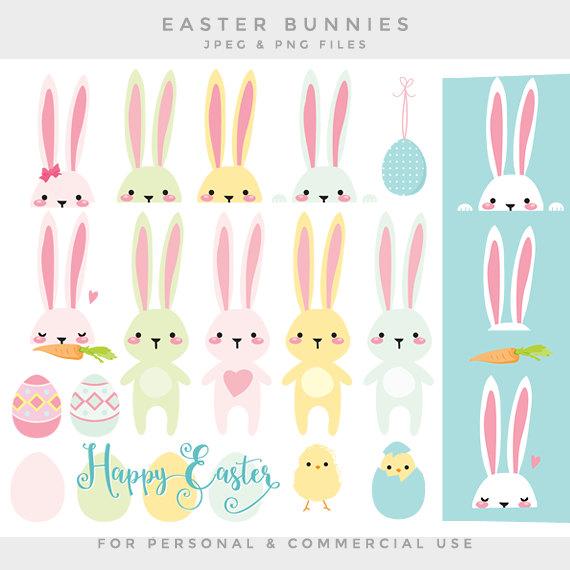 Pastel clipart bunny Clipart bunnies art clipart clip