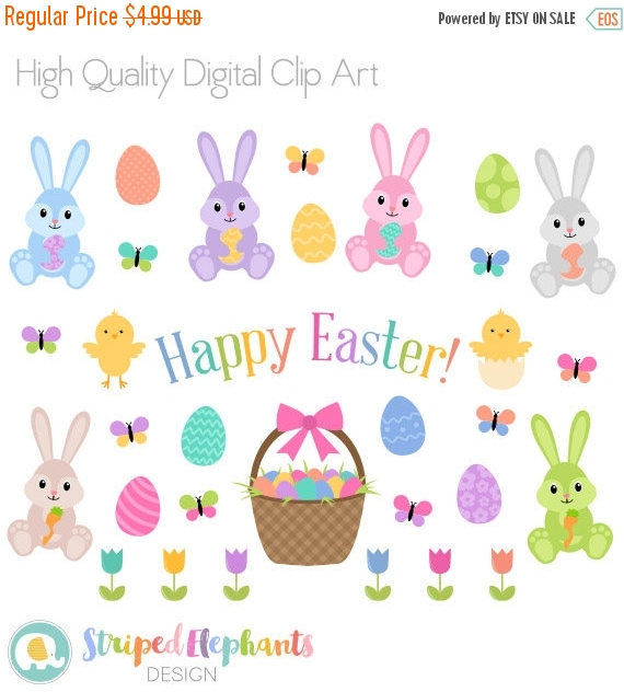 Pastel clipart bunny Easter Easter Easter Clipart SALE