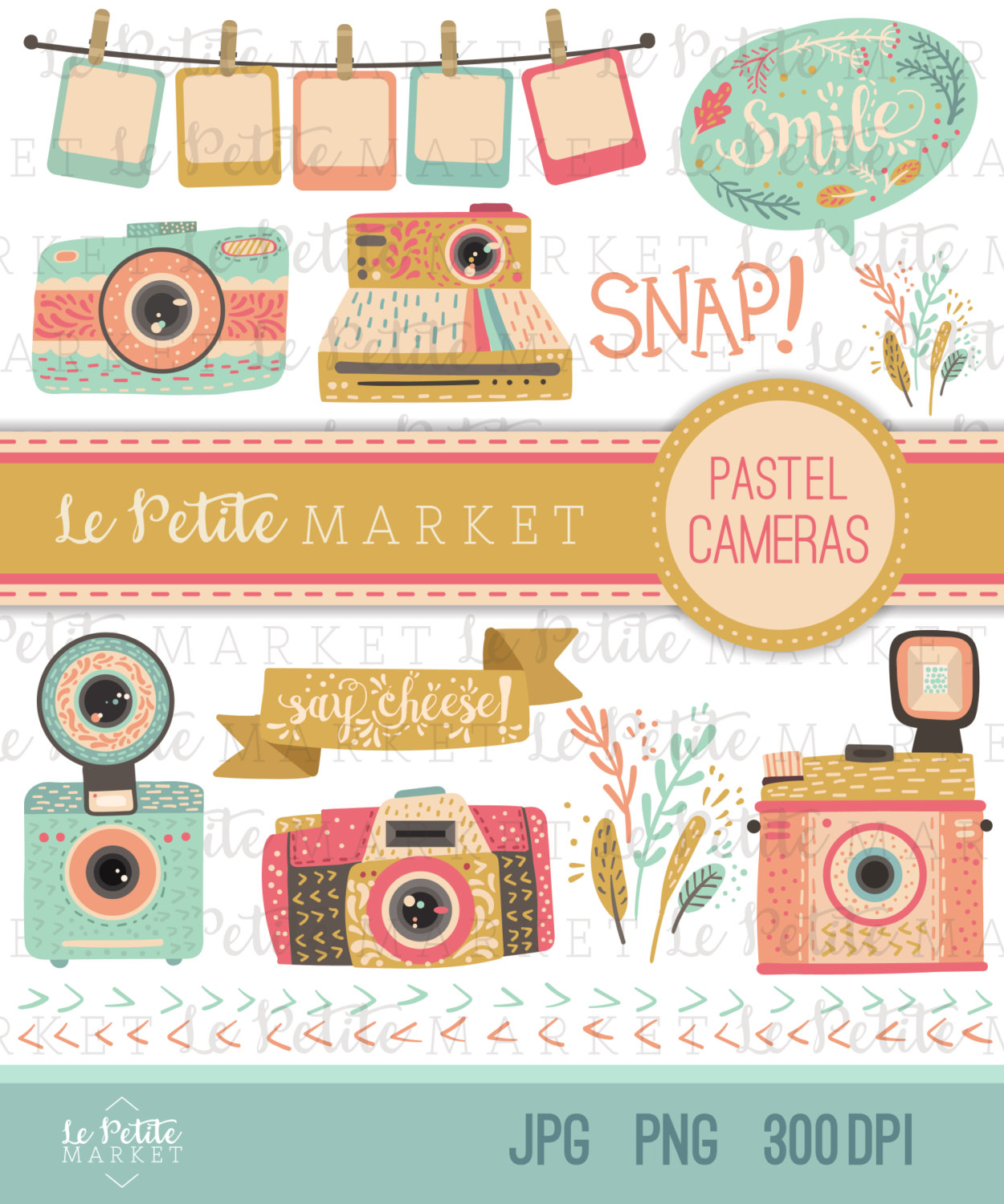 Camera clipart pastel Logo Illustration Camera Camera Set