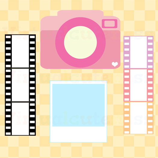 Camera clipart pastel Cute ~ Film Clipart Cute