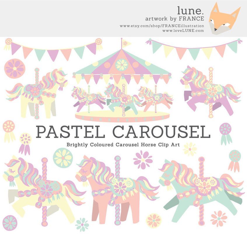 Carousel clipart pastel For more  CAROUSEL info