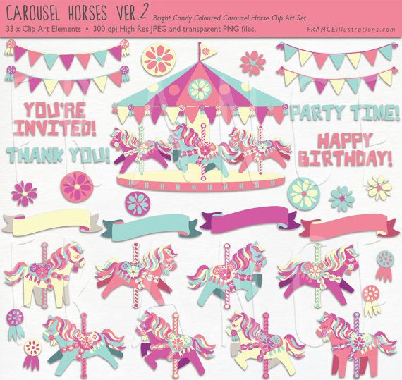 Carousel clipart cute 214 Candy images Pretty Pony