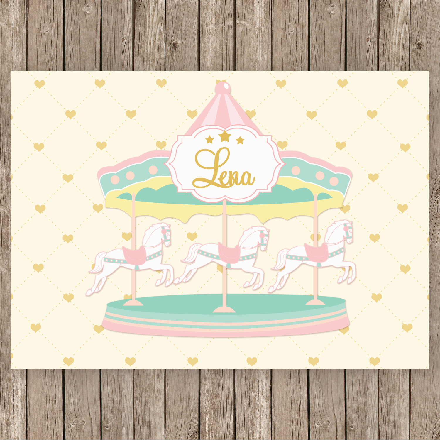 Carousel clipart pink gold In backdrop gold cream pink