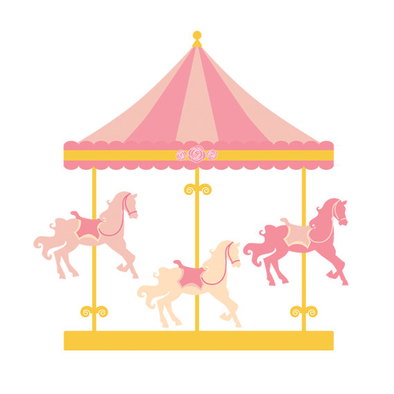 Carousel clipart pastel Clipart commercial and  clipart