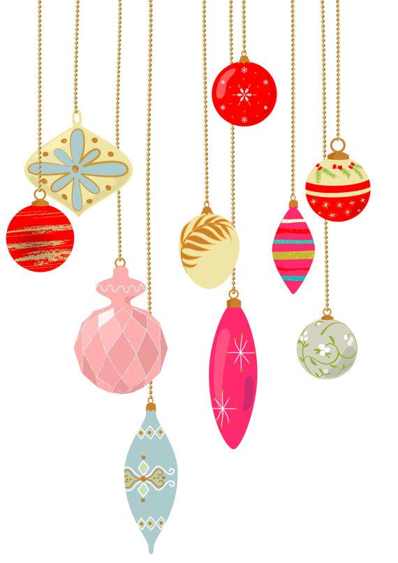 Christmas Tree clipart pastel Vintage Christmas clip Christmas 10
