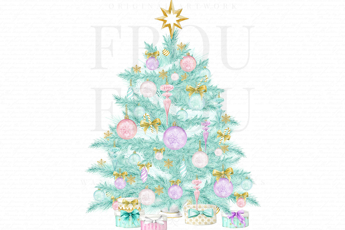 Christmas Tree clipart pastel Is a file Mint Christmas