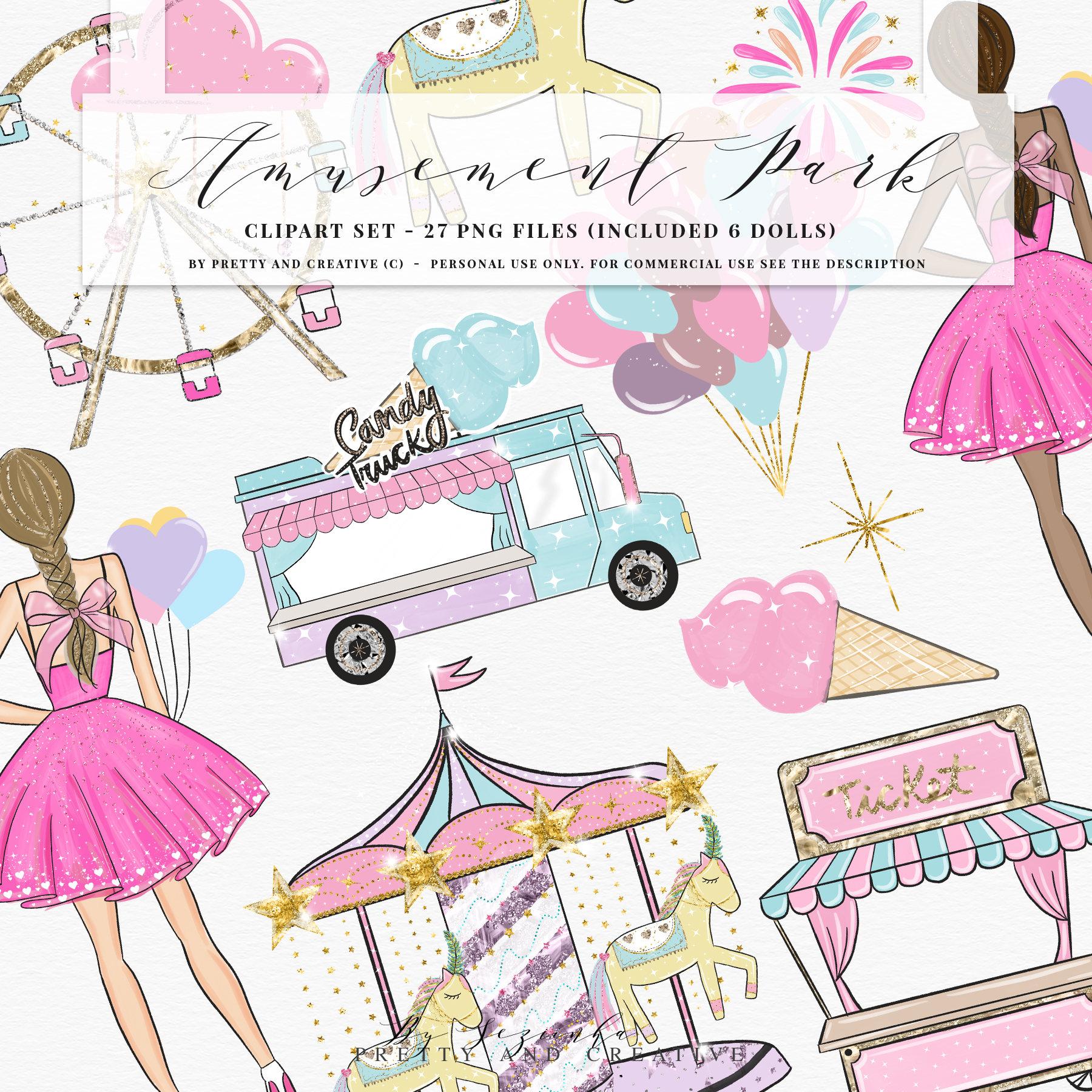 Circus clipart pastel  Art Girl Circus Amusement