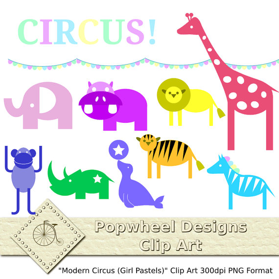 Circus clipart pastel PopwheelDesigns Etsy and Use Girl