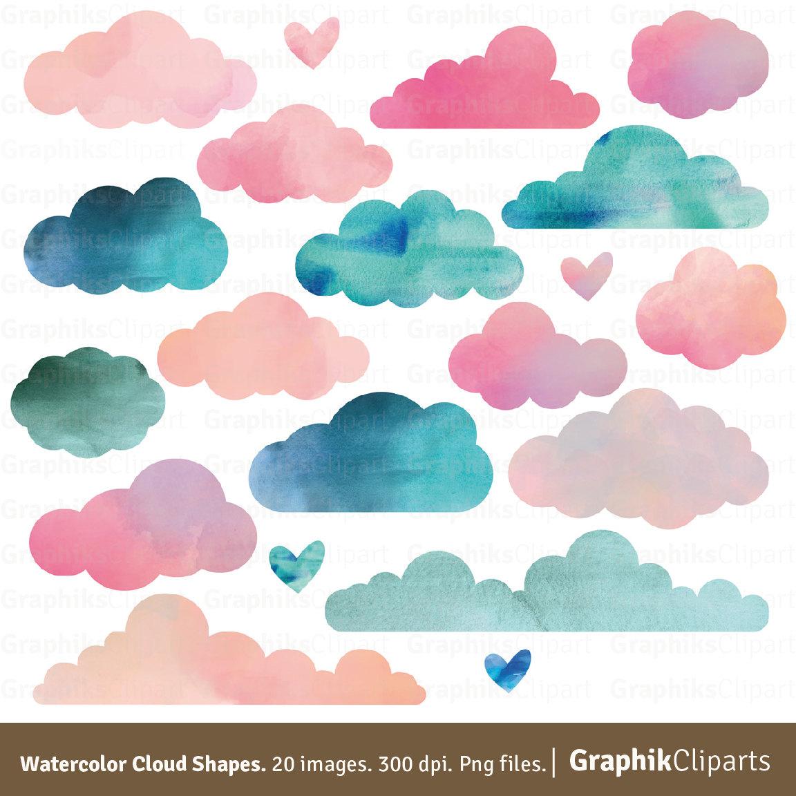 Pastel clipart cloud Clip ART