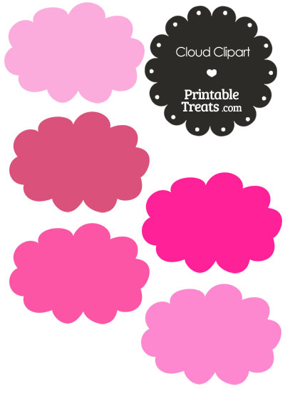 Clouds clipart colorful cloud Printable PrintableTreats Shades — Clipart