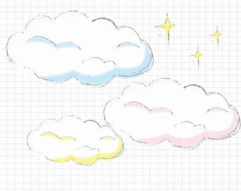Clouds clipart drawn Star Files Art and Pastel