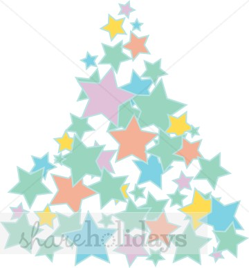 Christmas Tree clipart pastel Tree Star in Tree Pastels
