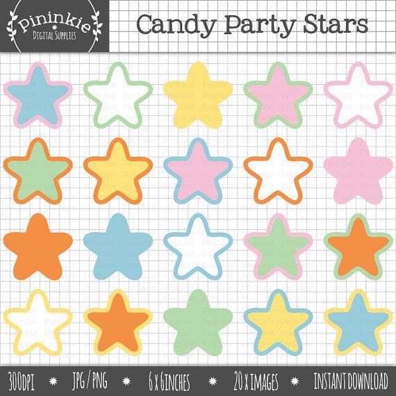 Pastel clipart colorful star Clip Pastel clipart от Pinterest