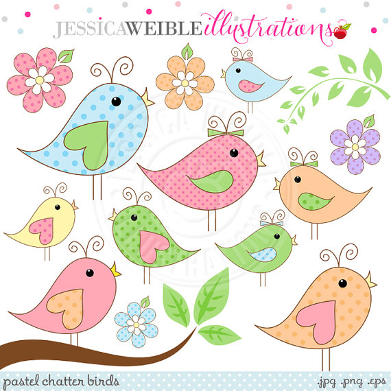 Pastel clipart cute bird  Clipart Pastel OK Chatter