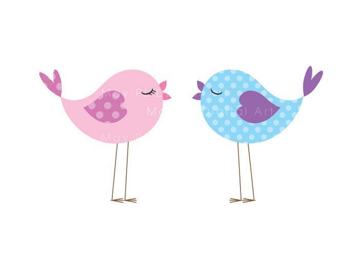 Brds clipart baby pink Cute VECTOR Animal Bird Digital