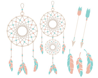 Dreamcatcher clipart pink Clipart or Scrapbooking Commercial graphics
