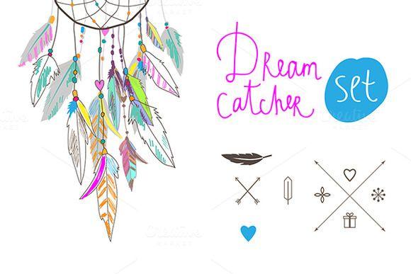 Dreamcatcher clipart pink Catcher Catcher Dream Dream set