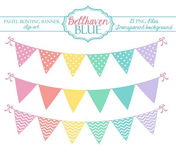 Bunting clipart teal Use all bunting ON clip