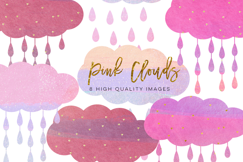Clouds clipart pastel Paper My clip art sticker