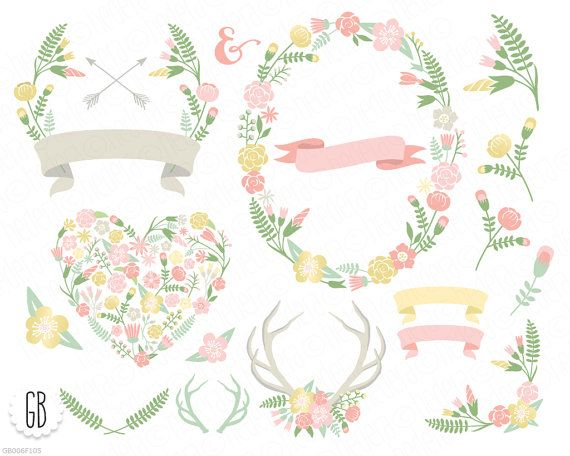 Wreath clipart pastel flower Flower best Dreams images on