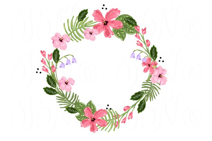 Wreath clipart pastel flower  clip clipart and Pastel
