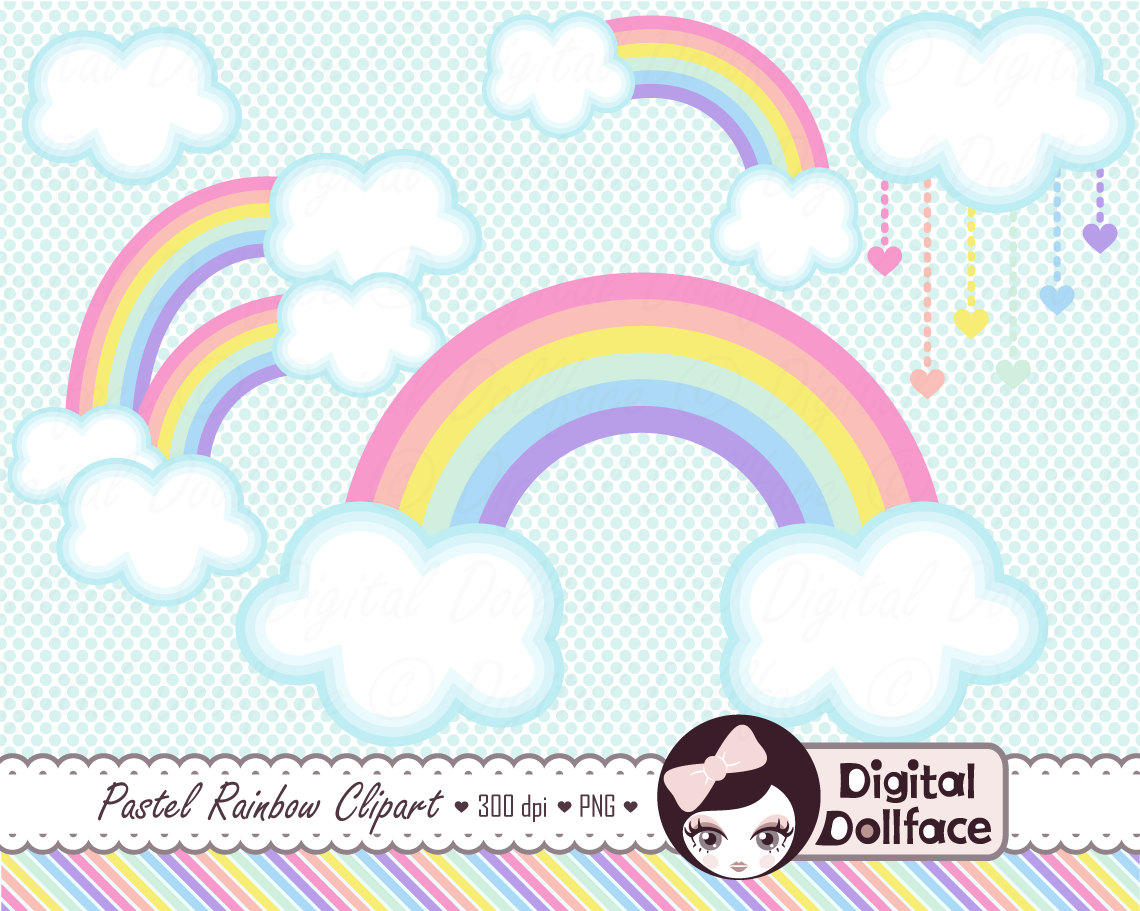 Clouds clipart pastel Clipart Spring Like item? this