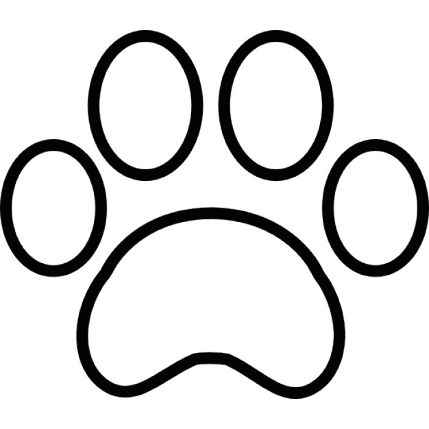 Paw clipart outline Free print Paw Paw outline