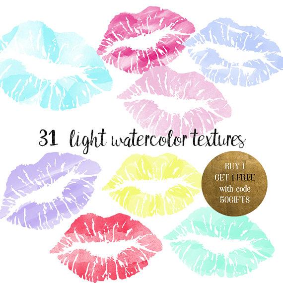 Pastel clipart pink lip Watercolor Watercolor Pink lips