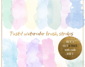 Pastel clipart pink lip Watercolor Pastel card Gold Strokes