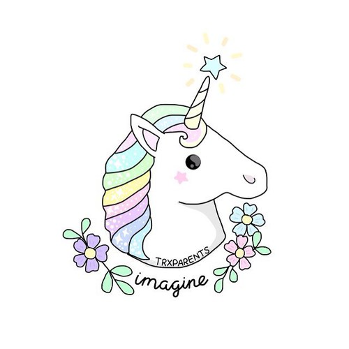 Pastel clipart unicorn Drawn Hand hand and Más