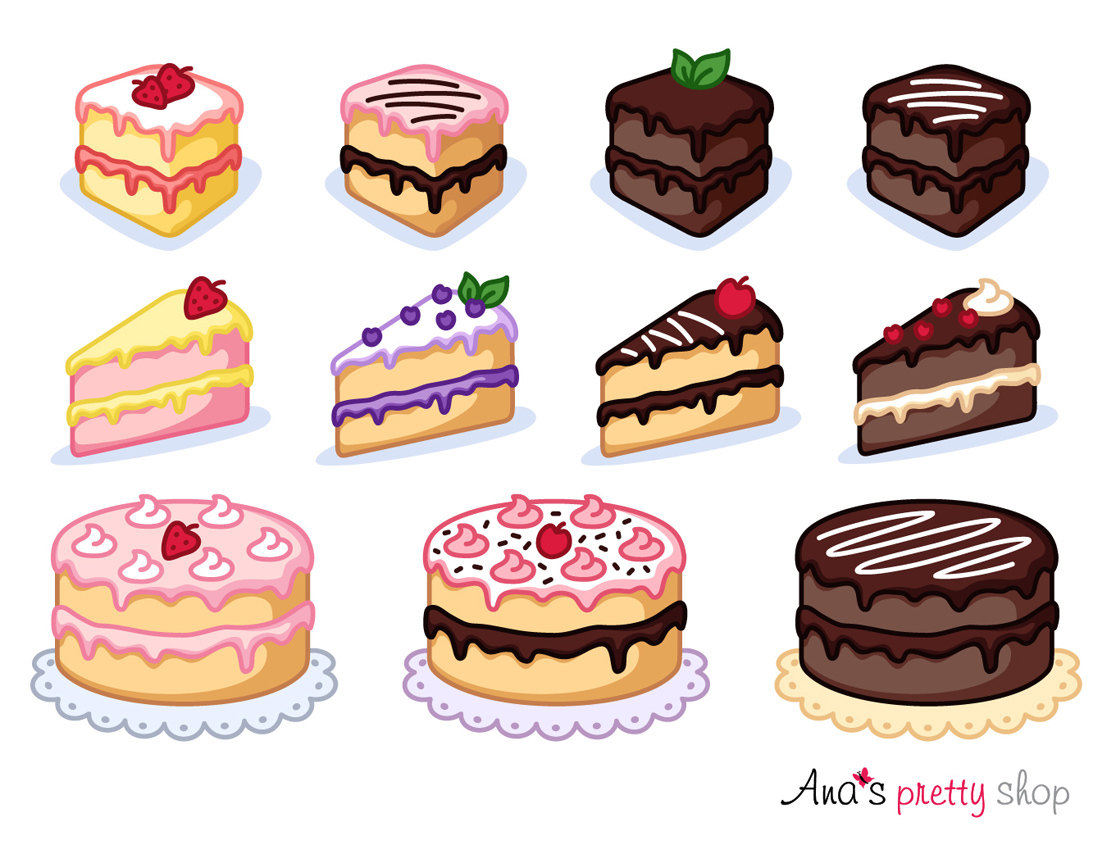 Denmark clipart breakfast pastry Clipart cake piece  This