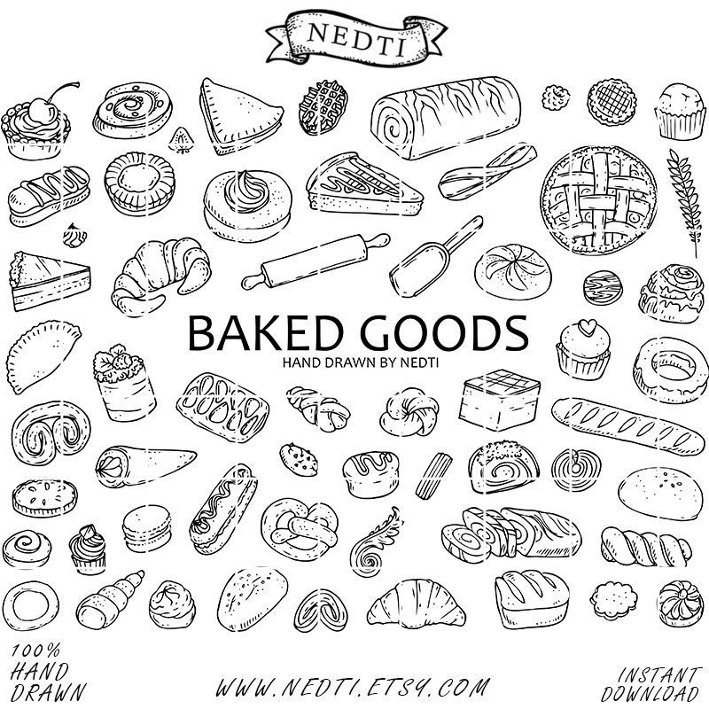 Pastry clipart baked goods Art Elements Illustration Baked PNG