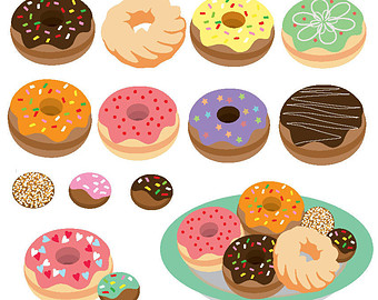 Pastry clipart baked goods Graphic set download digital Bakery