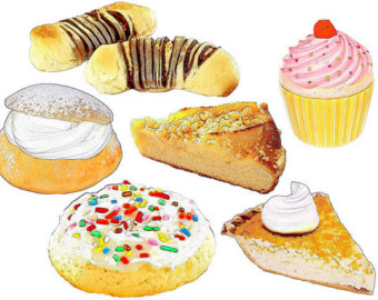 Pastry clipart baked goods Food pastries digital clipart collage