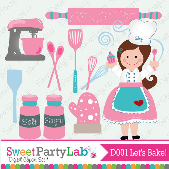 Pastry clipart baked sweet D001 Baking Graphic Clip Set