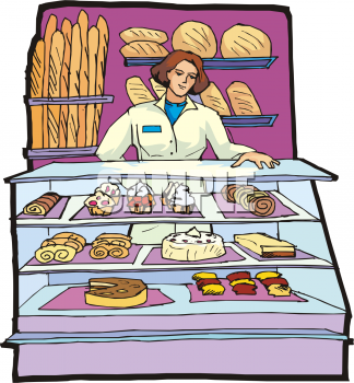 Display clipart baker Description: or pastries Dessert a