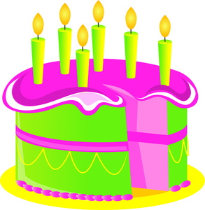 Pastry clipart candle Colorful Clipart Image Cake with
