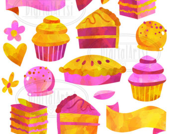 Pastry clipart candle Clipart Gold Mint and Clipart