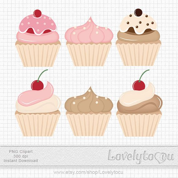 Pastry clipart cherry cupcake Art chocolate on Lovelytocu images