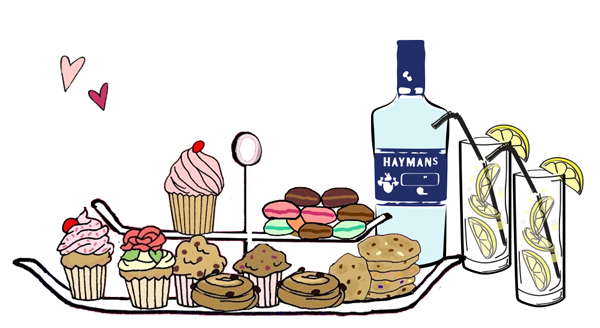 Pastry clipart cream tea Gin B Bakery Lovers Gin