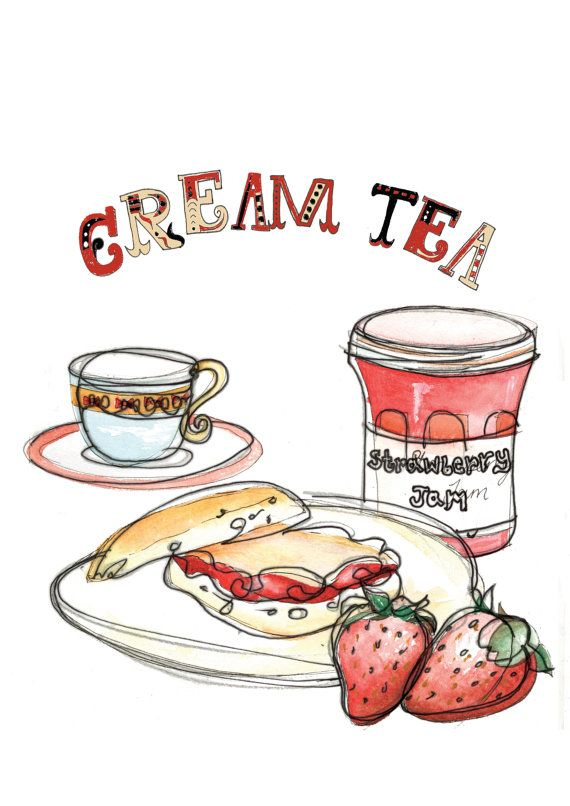 Pastry clipart cream tea Cream 25+ Cornish Tea kirstylovescake