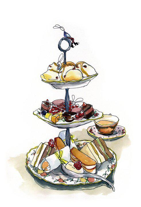 Pastry clipart cream tea Tea jpeg Bookings