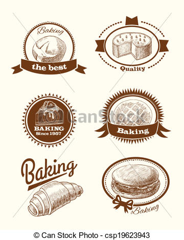 Pastry clipart logo And EPS  pastry Vector