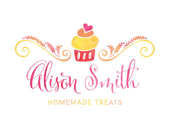 Pastry clipart logo Etsy Business Pastry Branding Pink